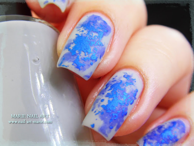 Nail Art Double Texture de Bleu7
