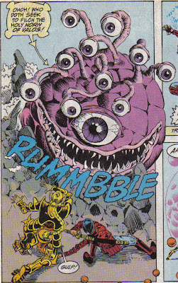 I personally thought the Beholder was about the same size as a big beach ball. A big, angry, bitey beach ball.