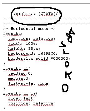 Gambar 1 Letak Kode CSS
