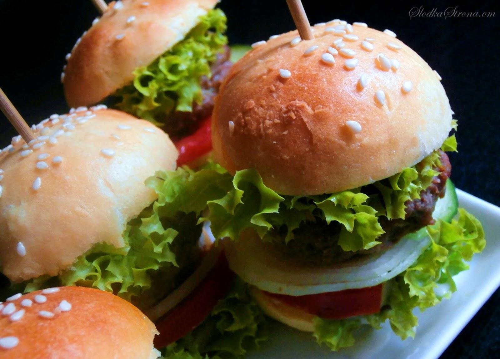 hamburgery na przyjęcia jako przystawka
