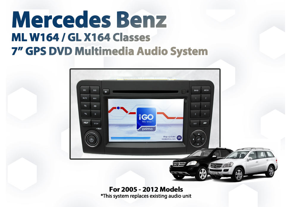 Mercedes benz w164 ml 250 350 7 gps bluetooth multimedia for How to use mercedes benz navigation system
