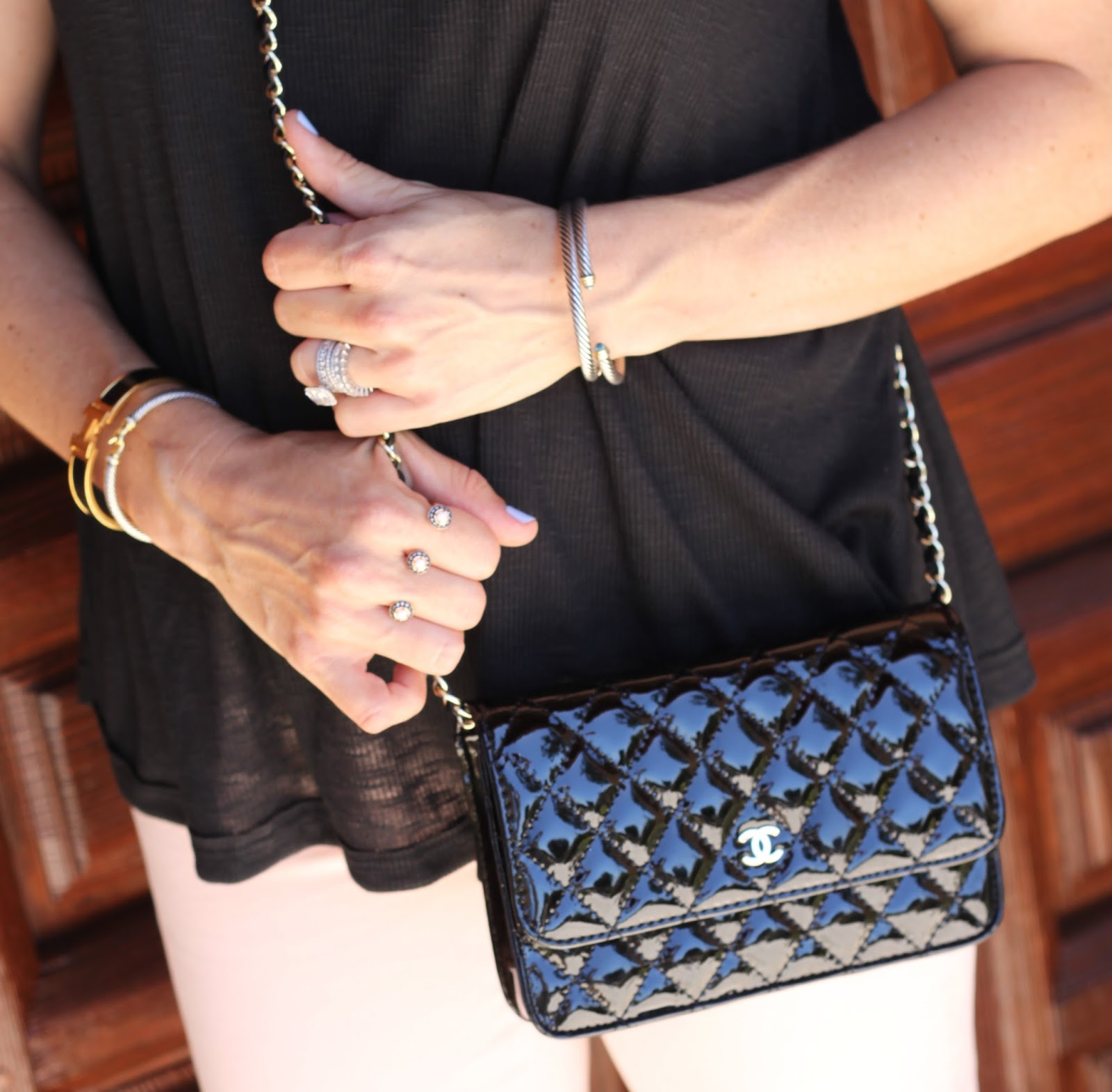 kendra scott double ring black chanel crossbody