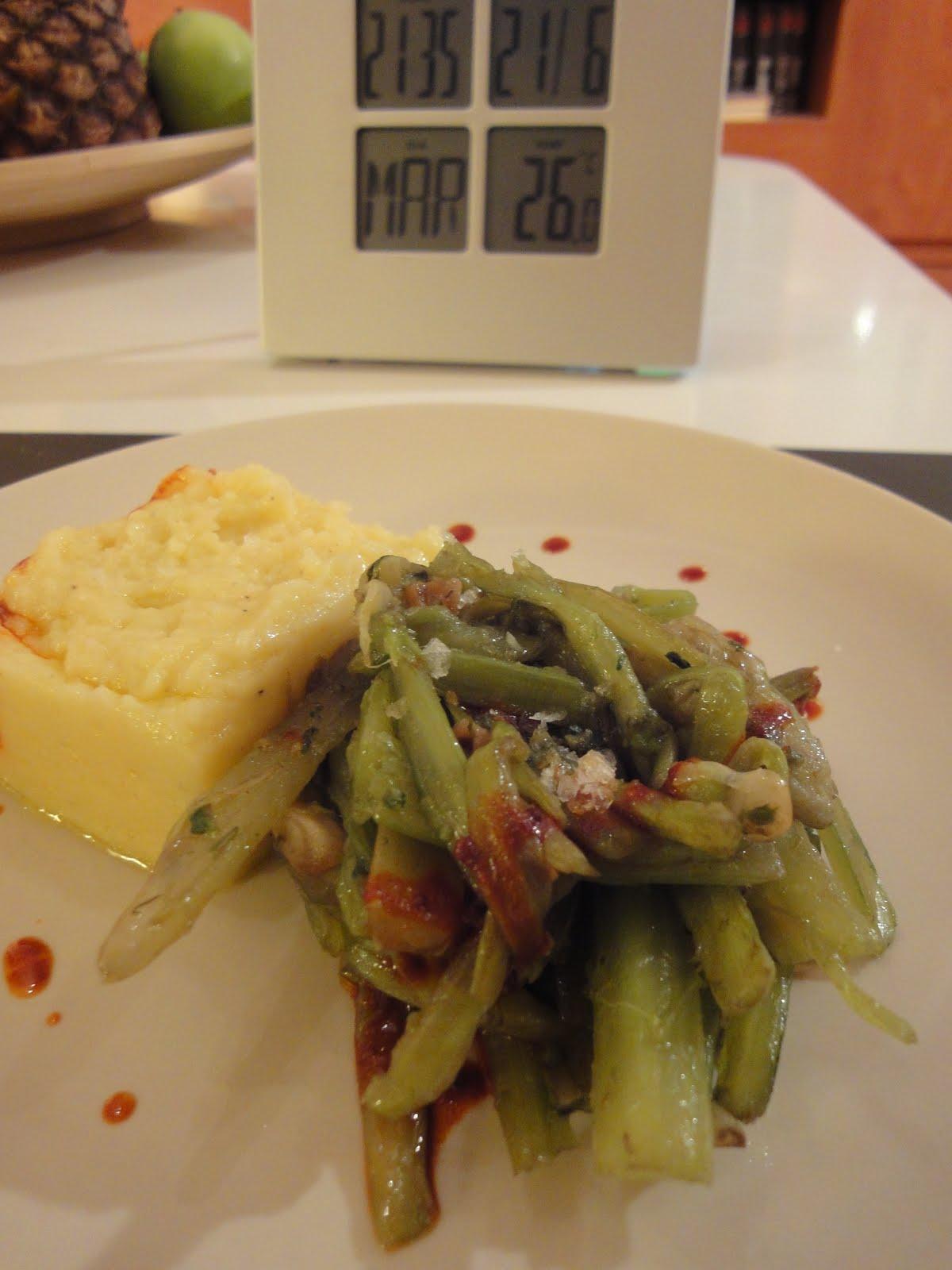 Clases de cocina zaragoza borraja con ajos y pur de patata - Cursos de cocina zaragoza ...
