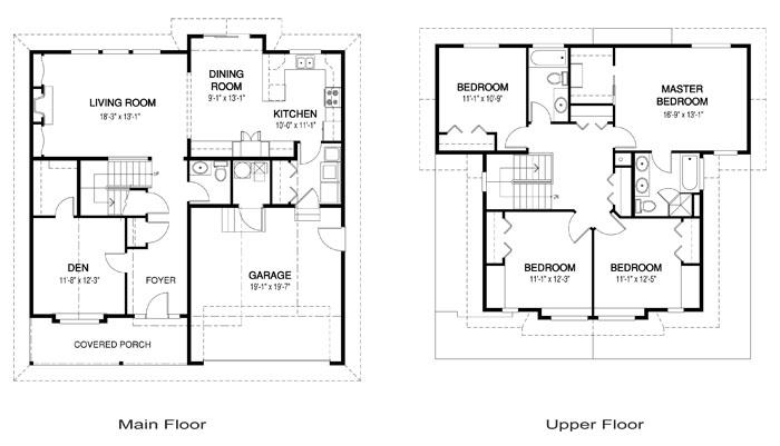 Viviendas Unifamiliares Arquitectura Y Construccion Plano