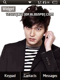 Lee Min Ho Samsung Corby 2 Theme Wallpaper