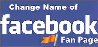 change facebook page name