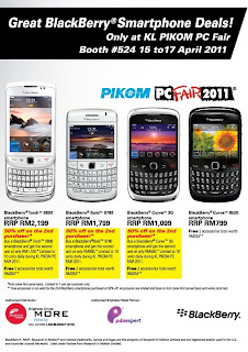Blackberry Deals Promotion di PC Fair