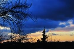 Blaue Wolken...