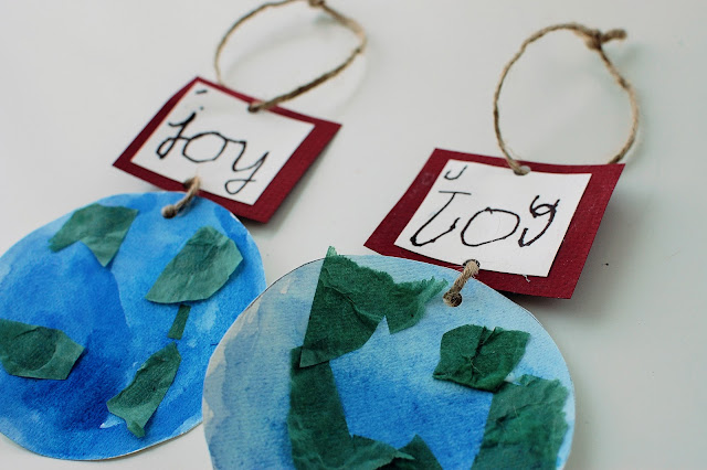 Beautiful Joy to the World ornaments - an open-ended craft with a beautiful finish!