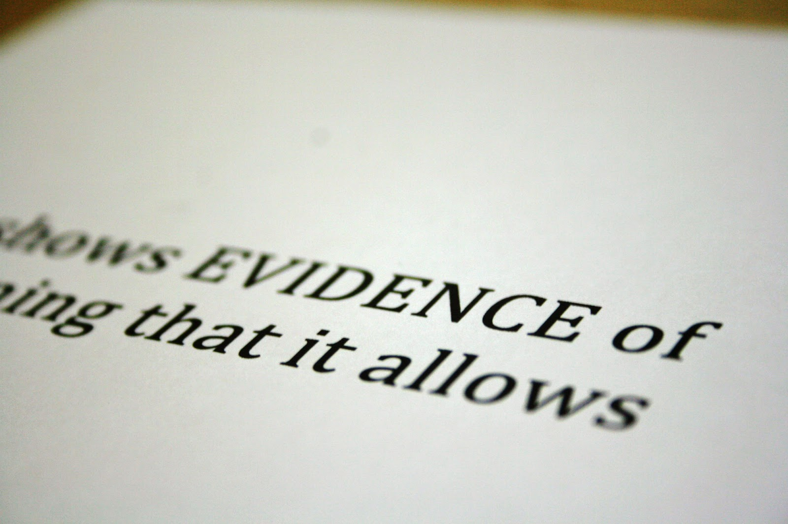 what is the meaning of the word evidence