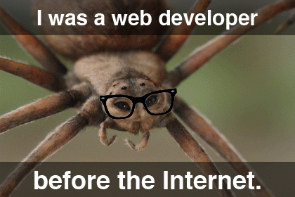 I was A Web Developer Before The Internet