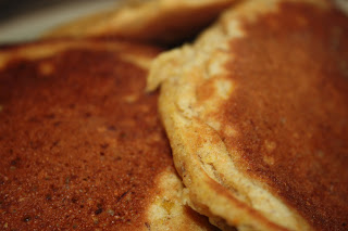 Pumpkin flax pancakes from scratch.