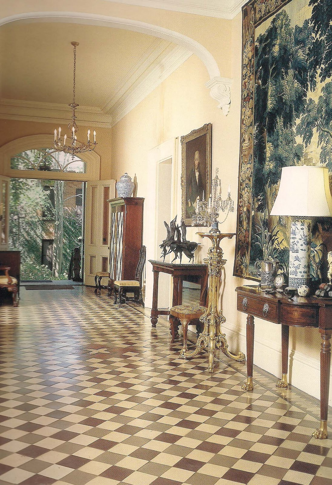 The devoted classicist the furnishings mercer house for The interiors house