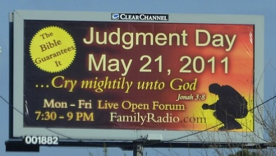 judgment day 2011 billboard. 2011. judgment day 2011