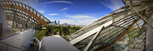 La Defense, seen from Foundation Louis Vuitton