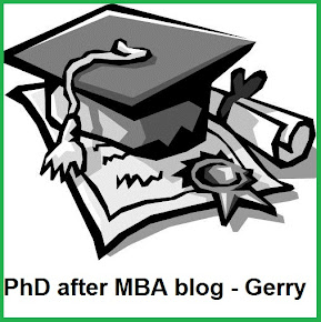 PhD after MBA blog