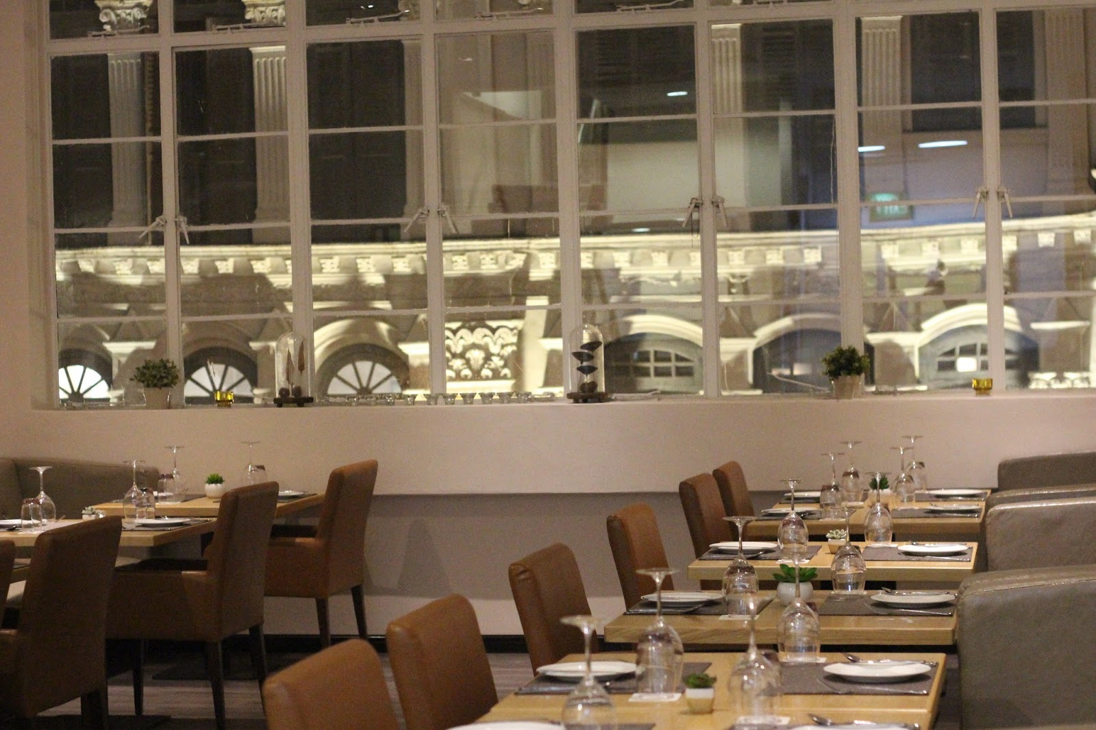 violet herbs houses a 2 storey 70 seater restaurant where the interior design surrounds the theme of comfort and elegance