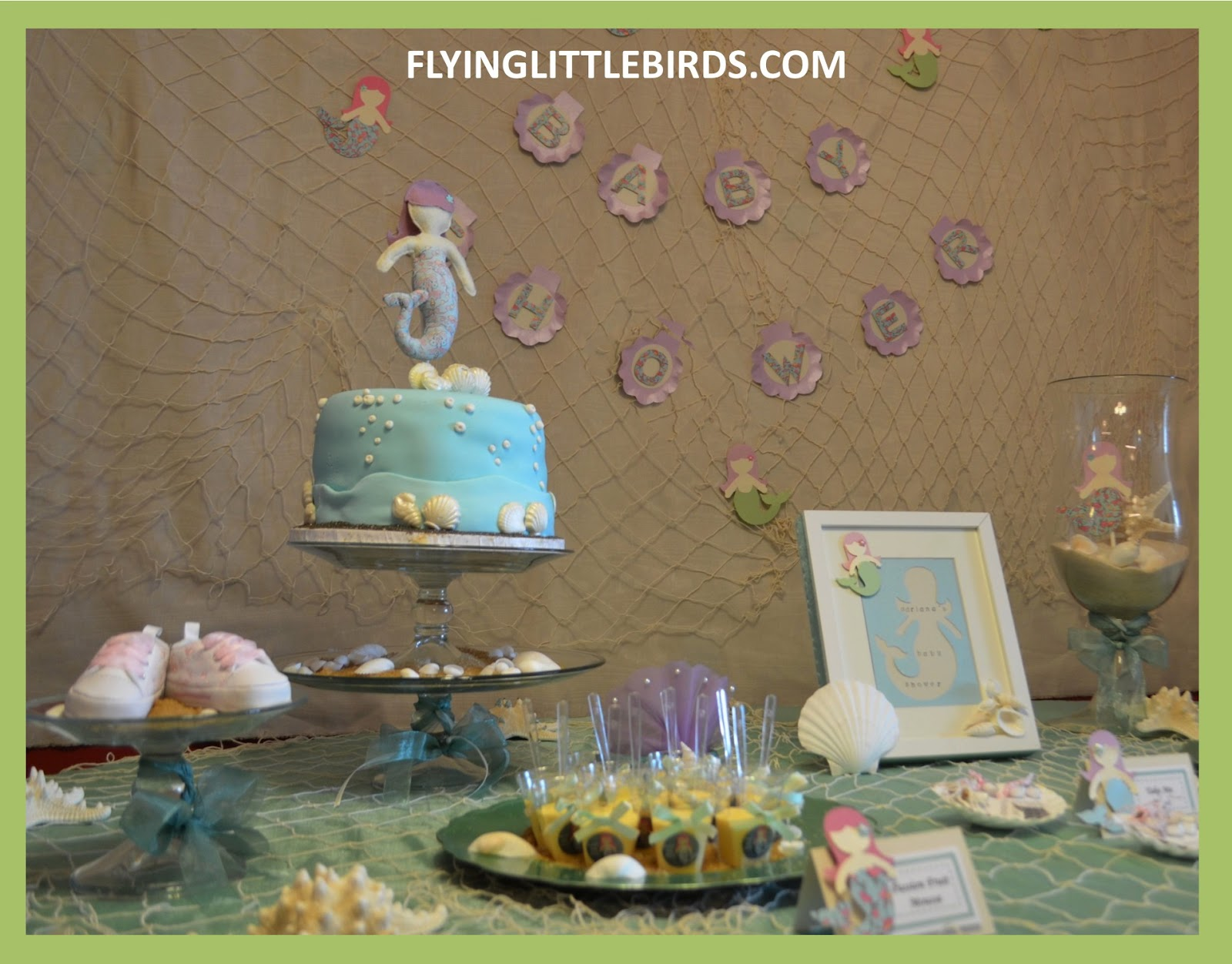 little mermaid baby shower
