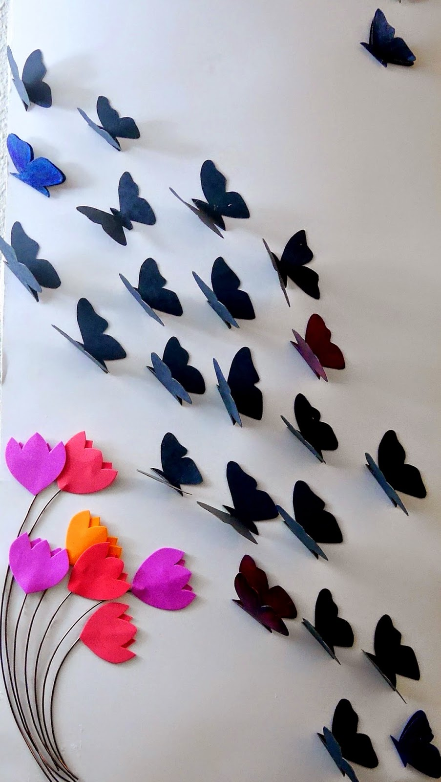 Easy Paper Butterflies For Your Walls