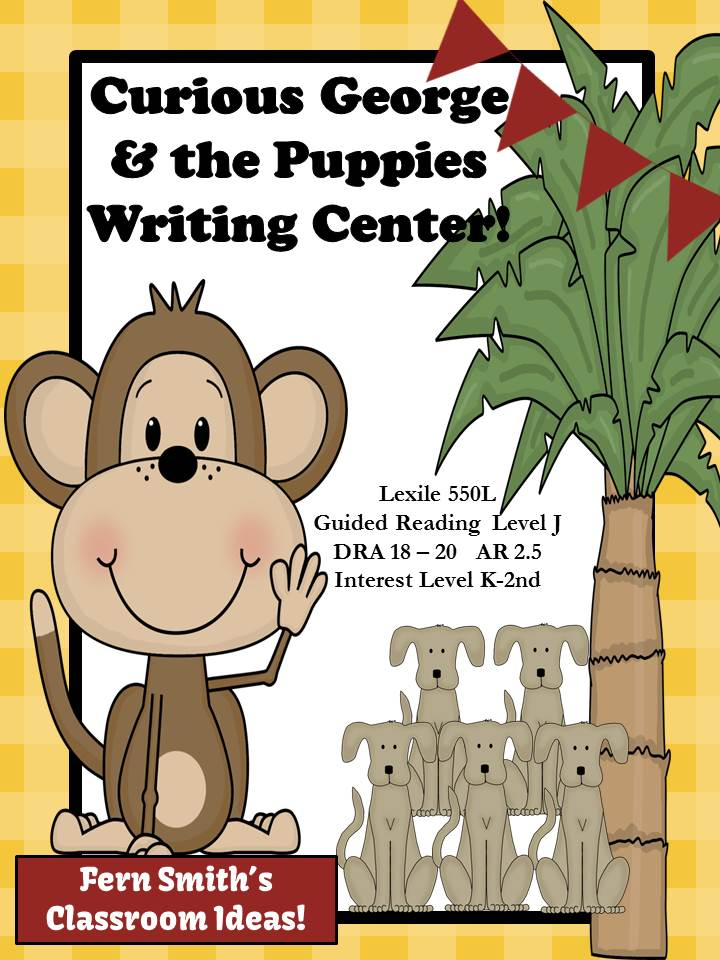 Curious George and the Puppies Writing Center for Common Core