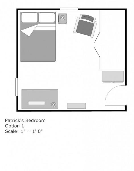 Bedroom Floor Plans 28 X 44 (3 bed, 2 bath) • Click for floor plan ...