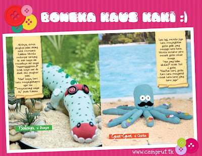 my 3rd craft book: Boneka Kaus Kaki...!!!