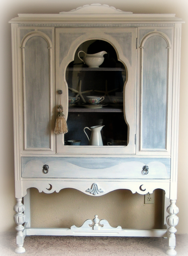 Cottage Chic China Cabinet - Beach Cottage DecoratingSally Lee's