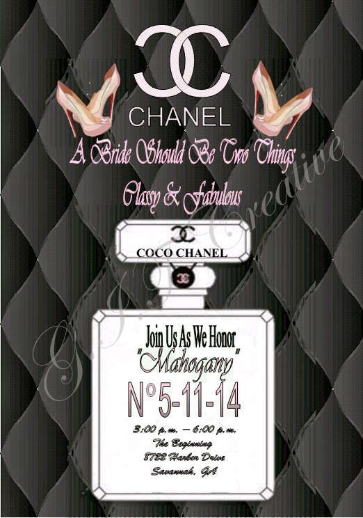 Git creative event planning llc chanel inspired bridal shower chanel inspired bridal shower invitation filmwisefo