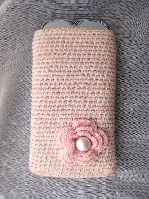 funda movil crochet