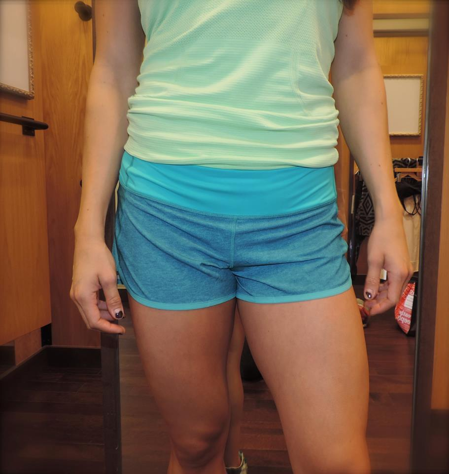 lululemon blue tropics speed short