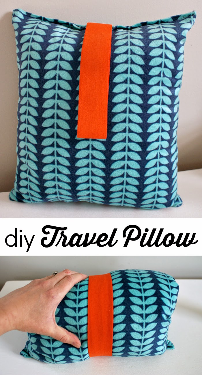 tutorial: easy DIY travel pillow