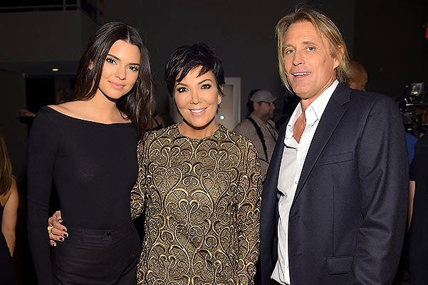 Kendall Jenner with her mother Kris Jenner and photographer Russell James