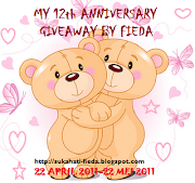 MY 12th ANNIVERSARY GIVEAWAY BY FIEDA