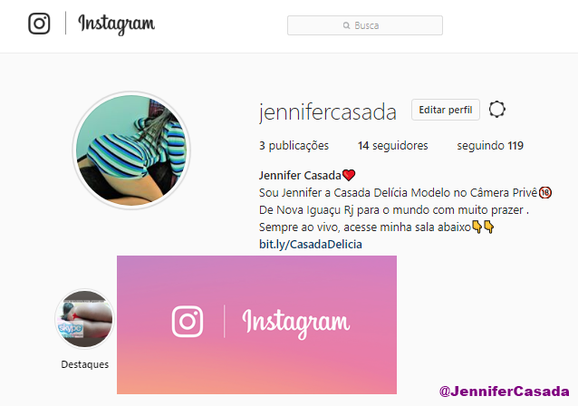 Meu instagram.com/jennifercasada/ siga lá...