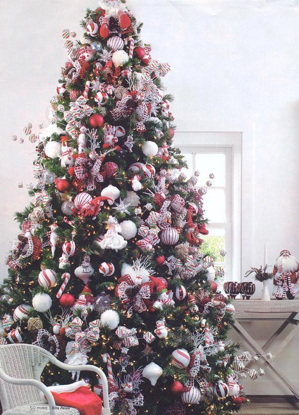 decoracao de arvore de natal tradicional:Melina Carelli Atelier Design: Árvore de Natal: Tradicional