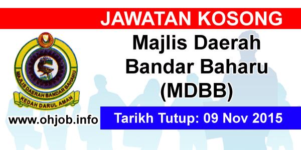 Jawatan Kerja Kosong Majlis Daerah Bandar Baharu (MDBB) logo www.ohjob.info november 2015