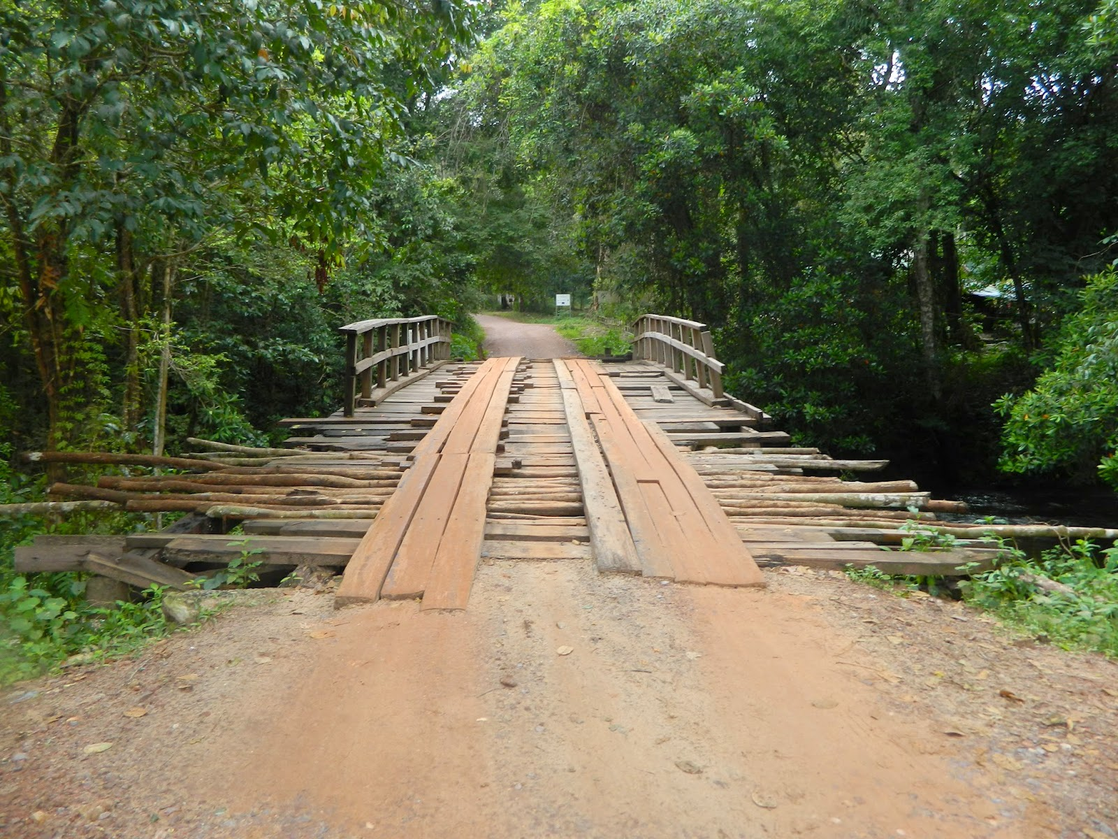 The rickety bridge experience at Kulen mountains