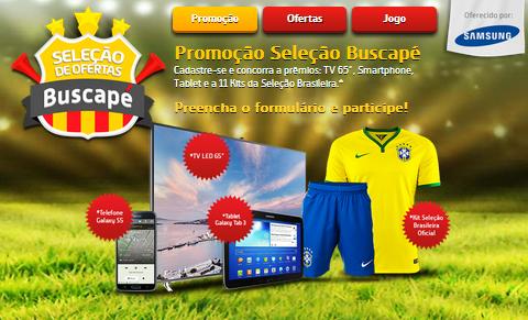 Concorra a prêmios: TV 65', Smartphone, Tablet e a 11 kits da Seleção Brasileira.