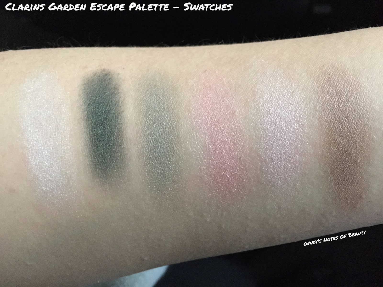 Clarins Garden Escape Swatches