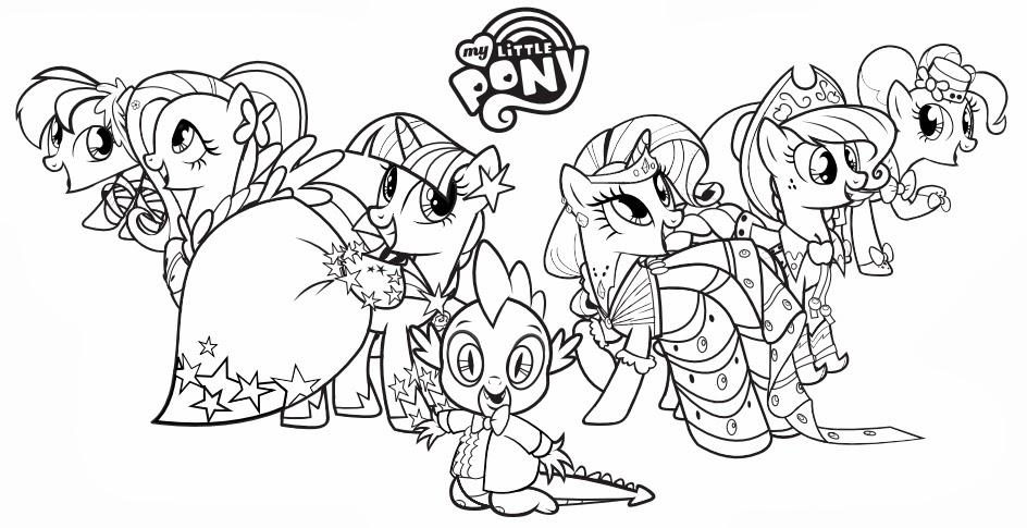 Dibujos para colorear de My Little Pony la magia de la amistad ...