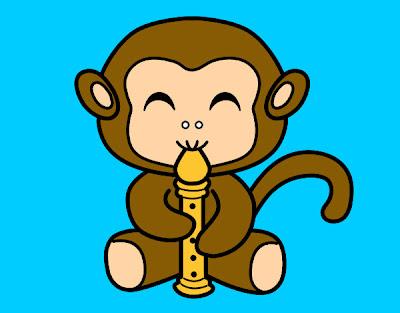 La chachipedia orangutanes gorilas y monos para colorear - Dibujos infantiles para imprimir pintados ...