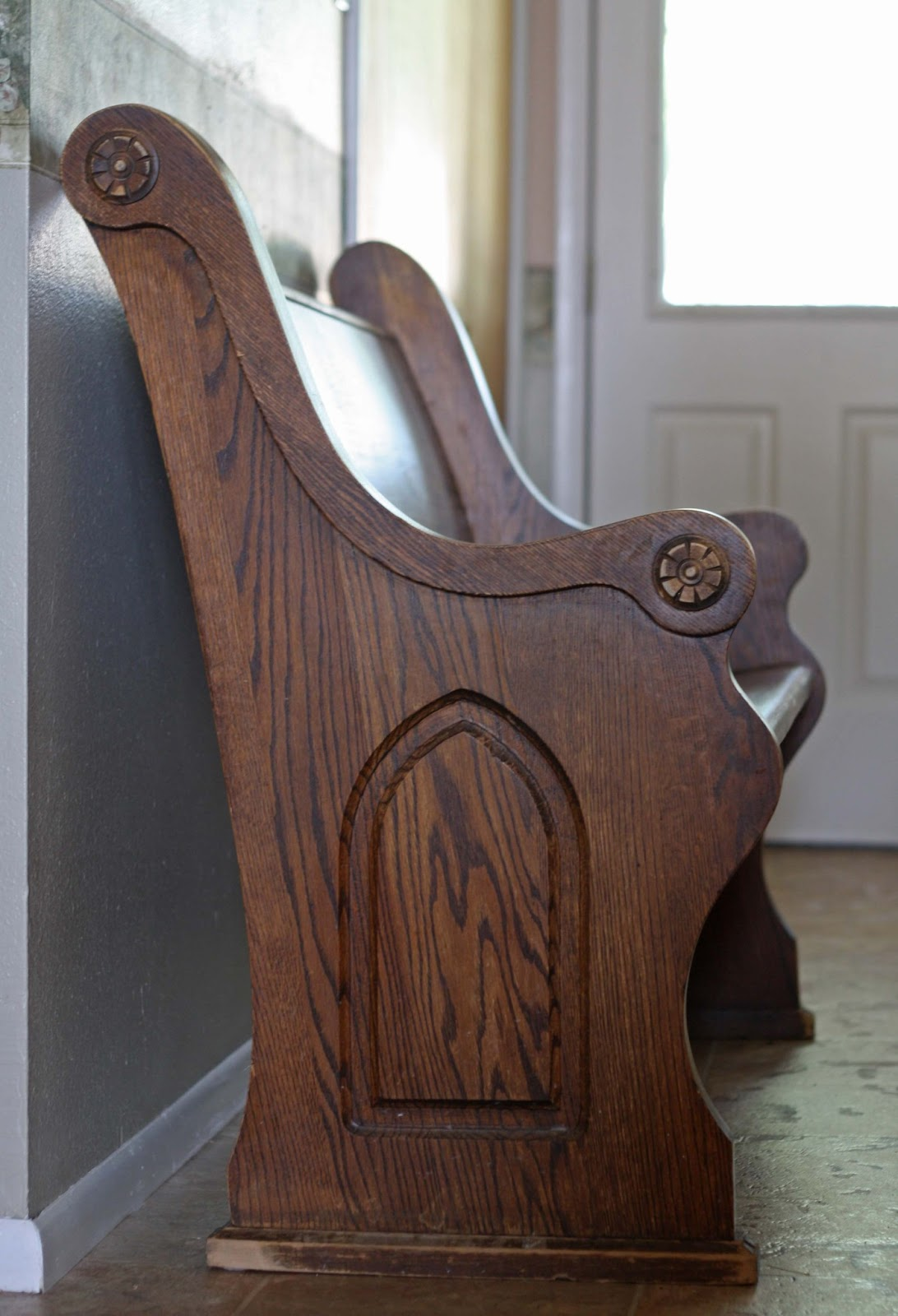 it was from an older church in our area that was remodeling - Church Pews For Sale
