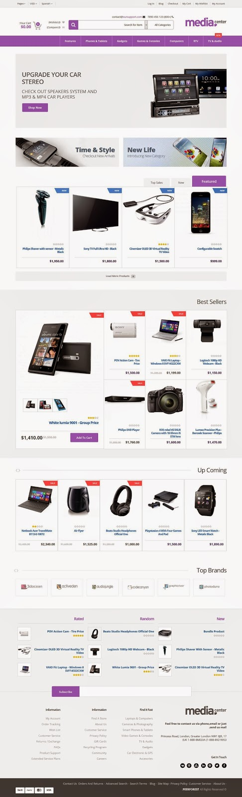 Electronics Store Website Theme