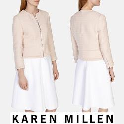 Sofia Hellqvist in KAREN MİLLEN Tweed jacket Sofia Hellqvist Style
