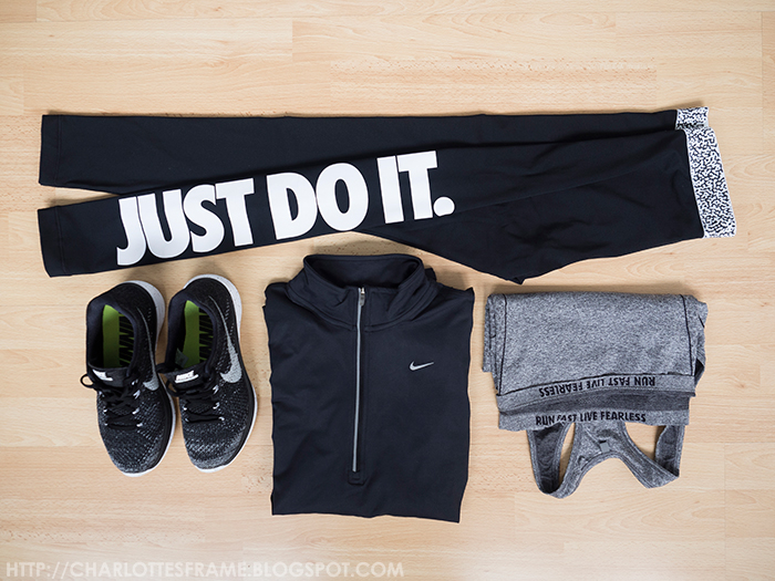 just do it tights, nike tights, nike flyknit lunar