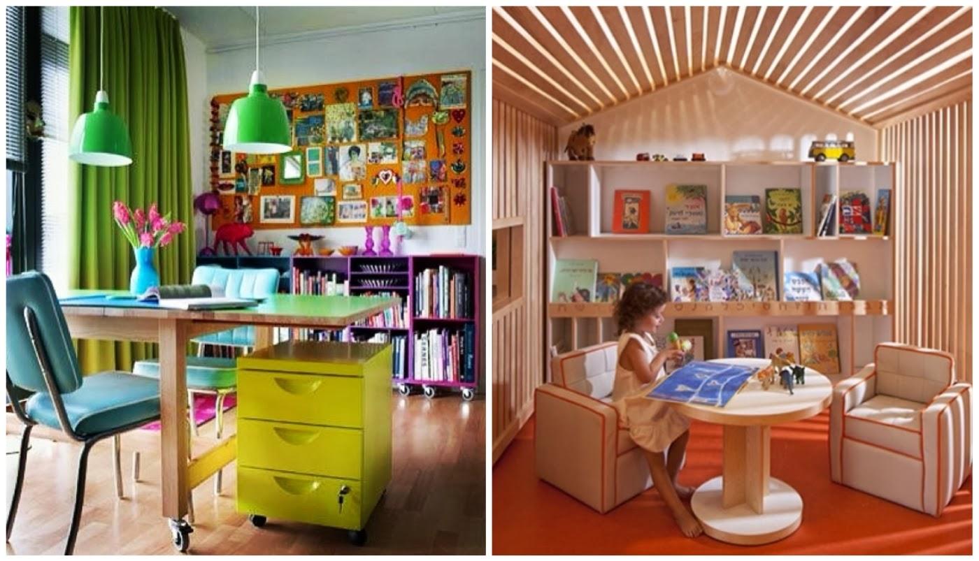 mural de imagens @decorismoblog espaço de tarefas para crianças @interioresdesigndecoracao