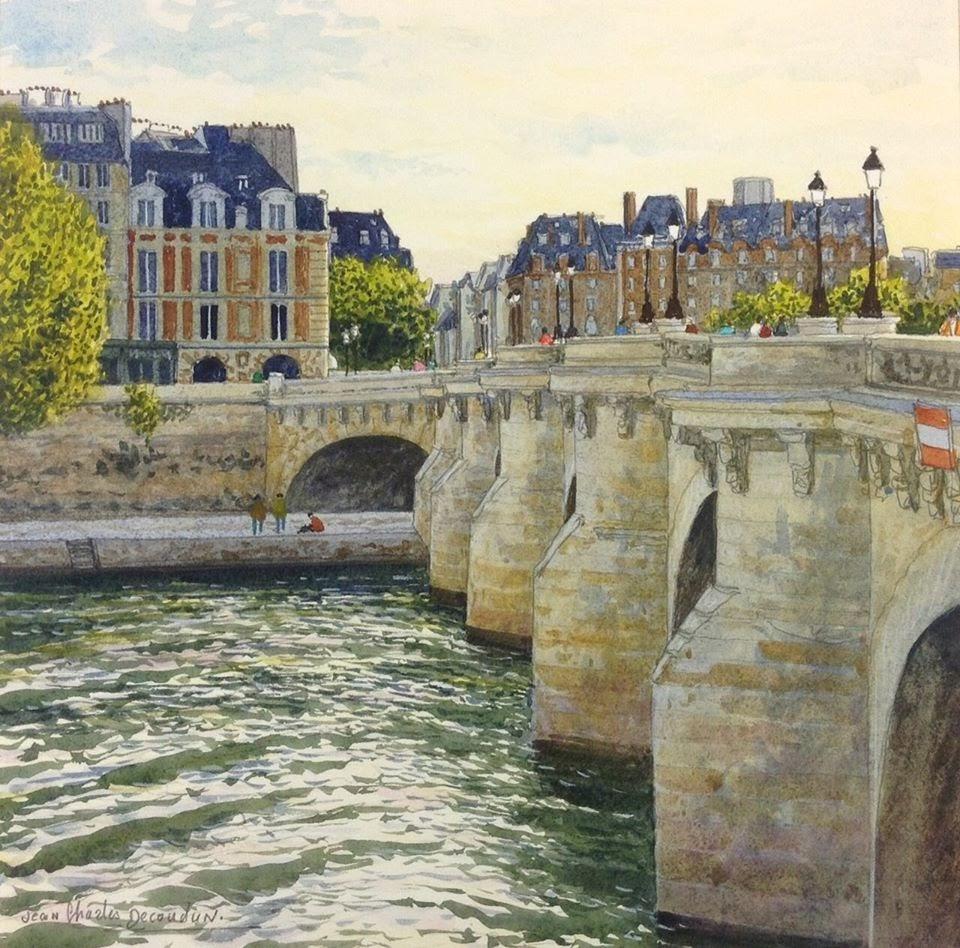 Jean Charles Decoudun Le Pont Neuf franchissant la Seine