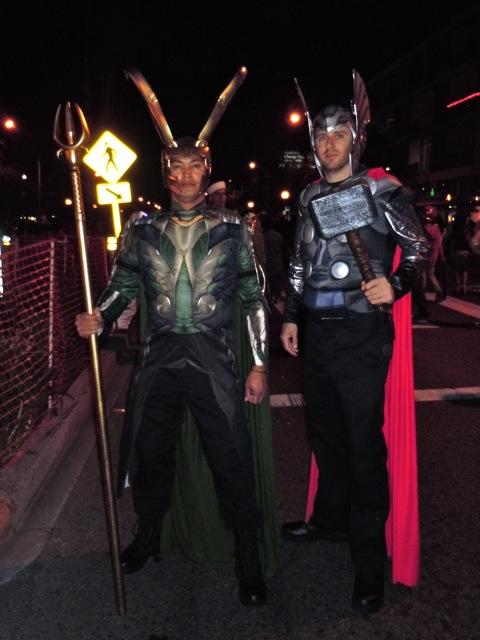 WEHO Halloween Loki and Thor costumes