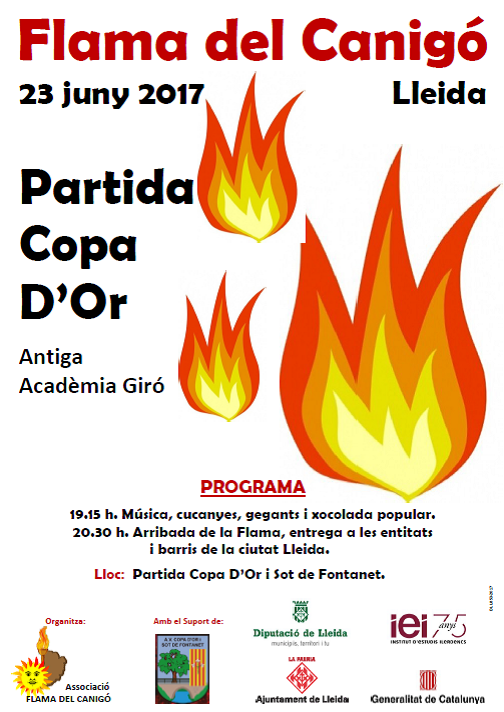 CARTELLS I CAMISETES PER PROMOURE ELS ACTES DE LA FLAMA