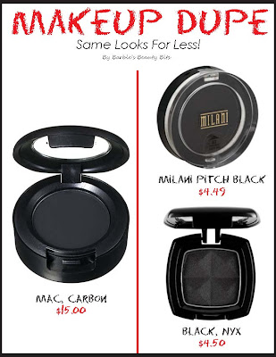 Makeup Dupes for MACS Carbon, Milani Pitch Black and Black Temptalia, , by Barbie's Beauty Bits